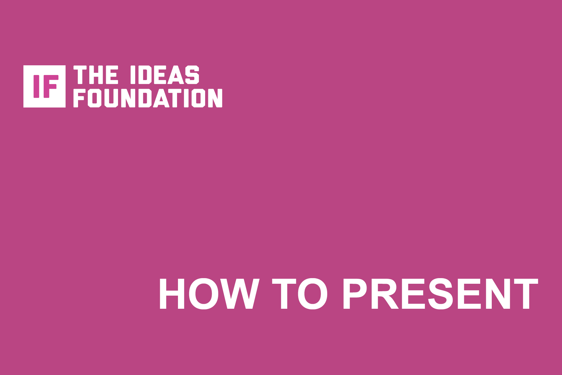 How to Present (cover image)