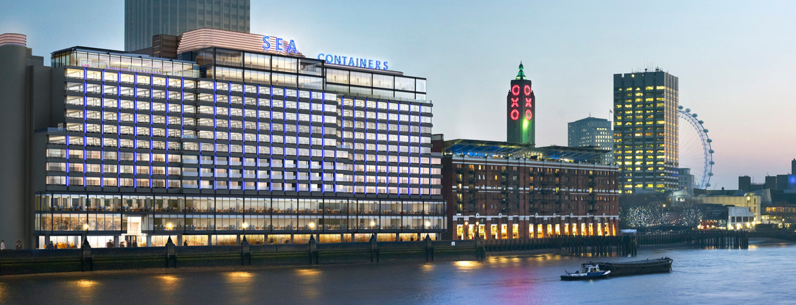 A photograph of Sea Containers House, London