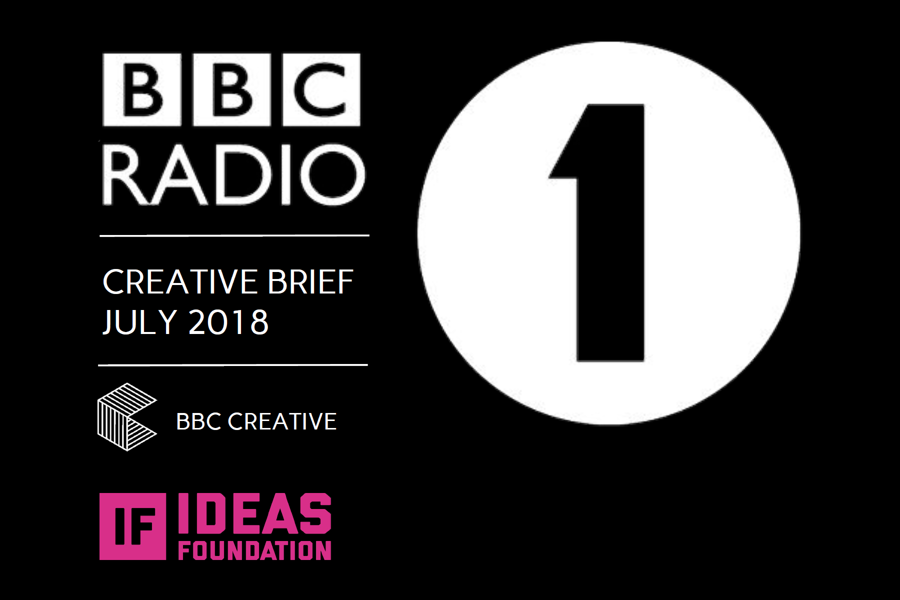 BBC Radio 1 - Creative Brief (July 2018) Ideas Foundation (graphic)