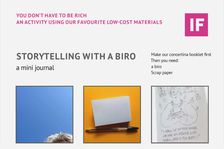 Storytelling with a biro - a mini journal (by Studio Lydia Thornley)